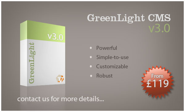 GreenLight CMS from just £119